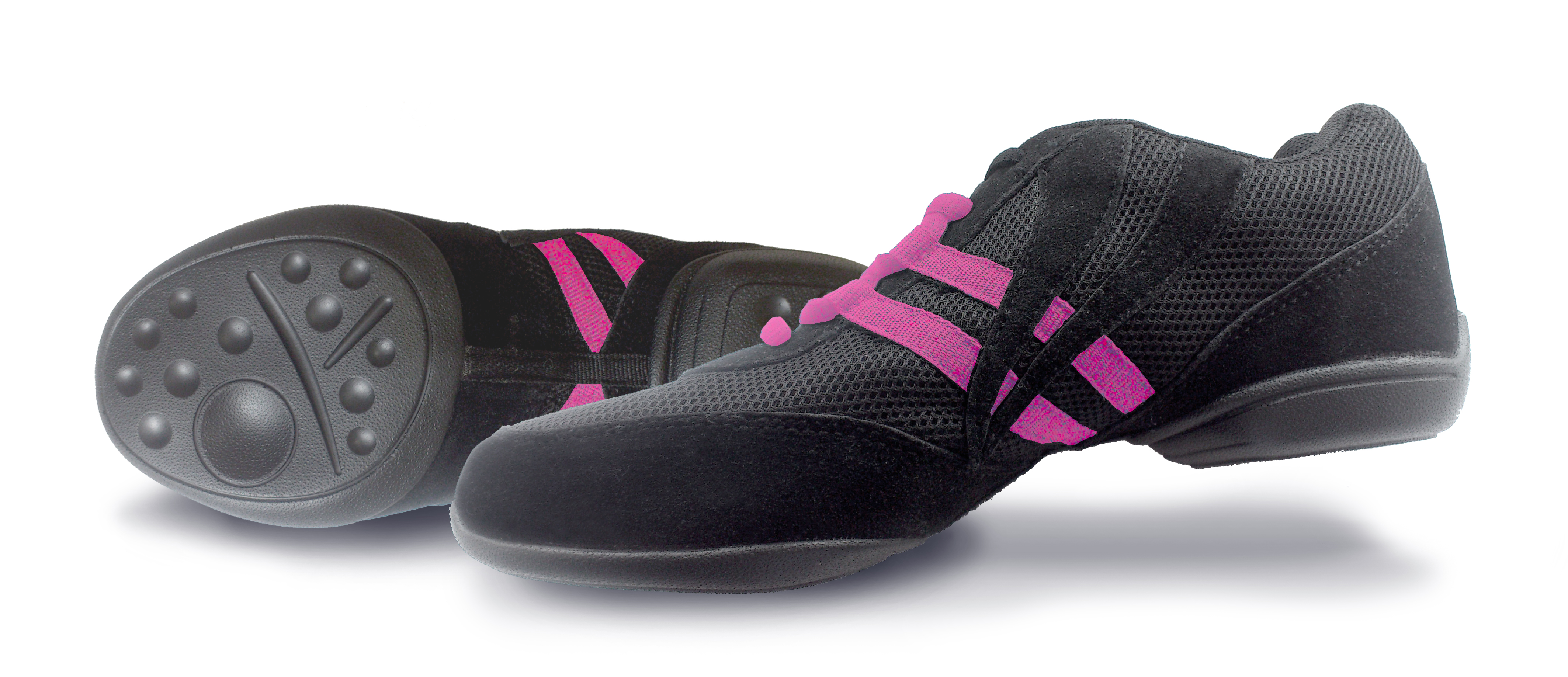 Split Sole Dance Sneakers Black/Pink