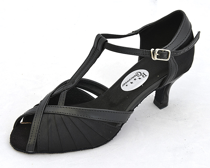 Black Leather Character Shoes Suede Bottom